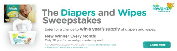 Pampers Diapers and Wipes Sweepstakes