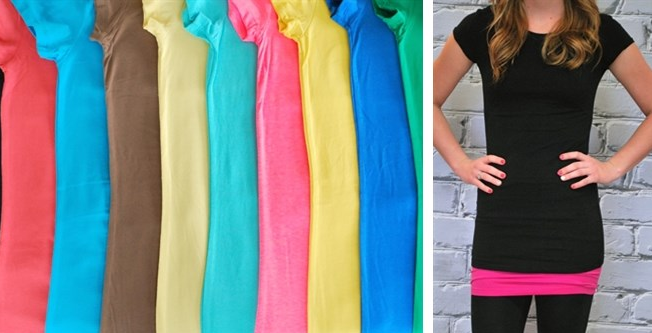 Hurrrrry Trendy Extra Long Layering Crew Neck Tee Only 5