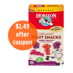 Commissary Deal: Horizon Organic Fruit Snacks $1.49 With Coupon