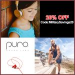 Puro Sound Labs Headphones 20% OFF Military Discount