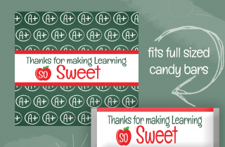 FREE Teacher Appreciation Candy Wrapper Printables