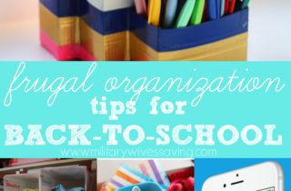 Frugal Organization Tips for Back To School Time