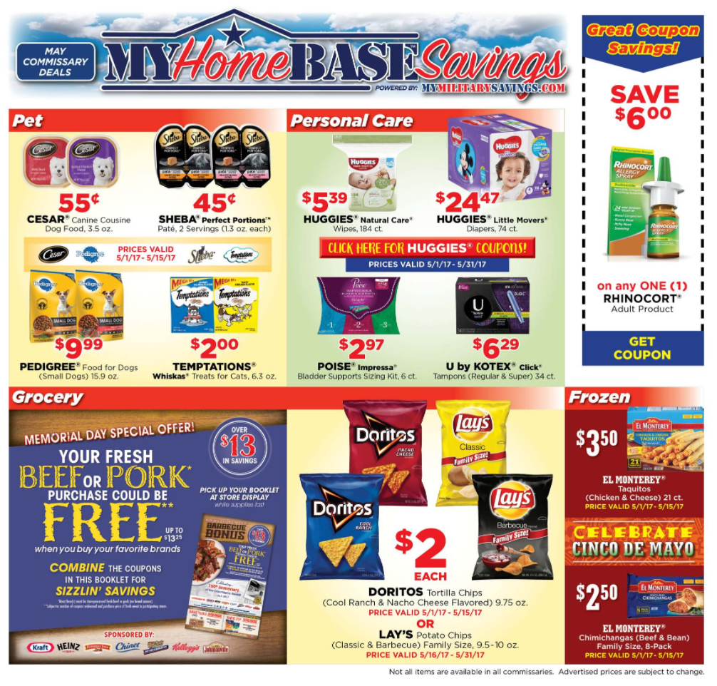 Commissary and Exchange Monthly Ads