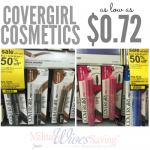 CoverGirl Cosmetics $0.72 At Walmart With Coupons