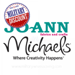 Michaels and Jo-Ann Fabrics Military Discounts