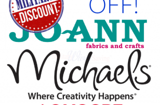 Michaels, A.C. Moore and Jo-Ann Fabrics Military Discounts