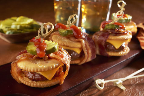 Bacon-Wrapped Cheeseburger RITZwich