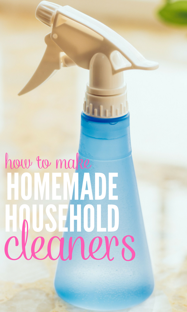 Homemade Natural DIY Cleaners Using Household Ingredients