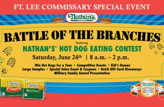 Nathan's Famous® Hot Dog Eating Competition at the Fort Lee Commissary
