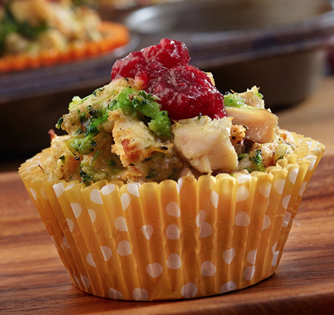 Mini Chicken & Stuffing Cups Recipe (Make With Turkey for Thanksgiving Recipes!)