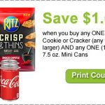 Coupon – Save $1.00 on NABISCO Cookies or Crackers AND Coca-Cola Cans!