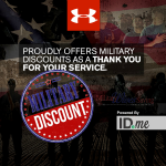Under Armour Offers 10% Military Discount ONLINE (new with Troop ID) starting TODAY 11/13!