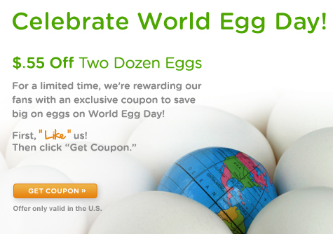 photograph about Egg Coupons Printable identified as Preserve $0.55 off 2 dozen eggs printable coupon (any manufacturer