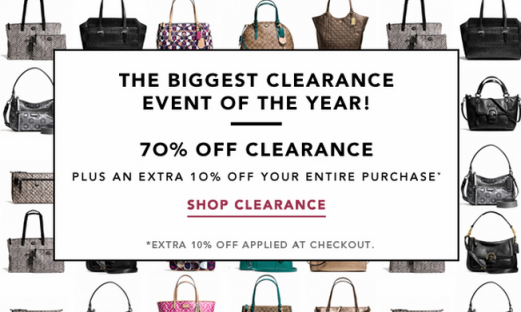 0b9914adddba Coach Factory Store Sale (up to 80% off) Ends Tonight!