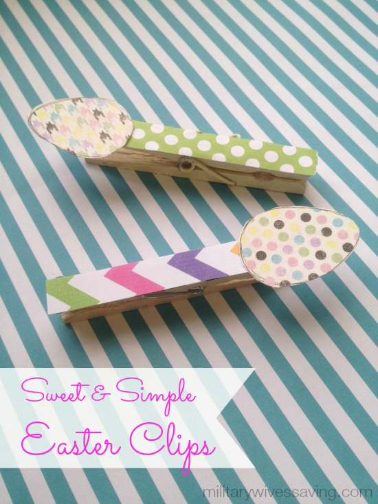 DIY Easter Clips With Clothes Pins Craft Idea