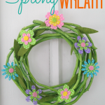 Super CUTE & Easy DIY Spring Wreath Craft Tutorial!