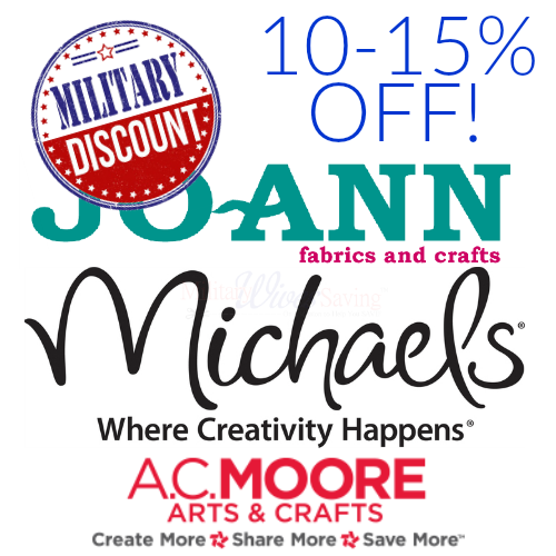 Military Discounts for Craft Stores - Michaels, JoAnn, AC Moore