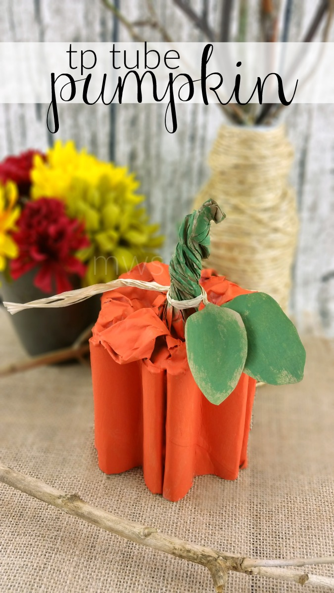 Toilet Paper Tube Pumpkin Craft
