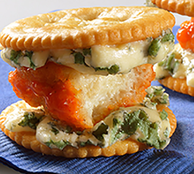 Buffalo Chicken RITZwich Ritz Crackers Recipe