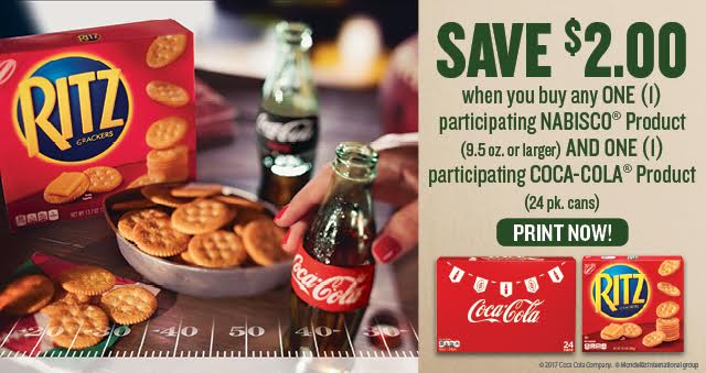 Coca-Cola Nabisco Ritz Crackers Coupons