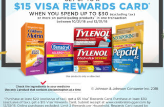 Celebrate Bigger & Earn a $15 Visa® Rewards Card!