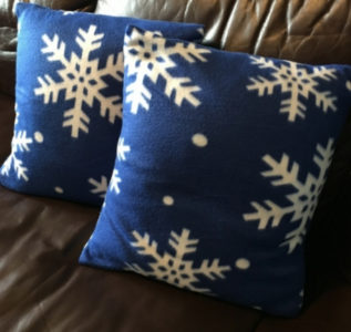 Easy DIY Winter Snowflake Pillowcase Covers