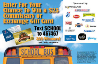 Commissary & Exchange Text To Win Sweepstakes!